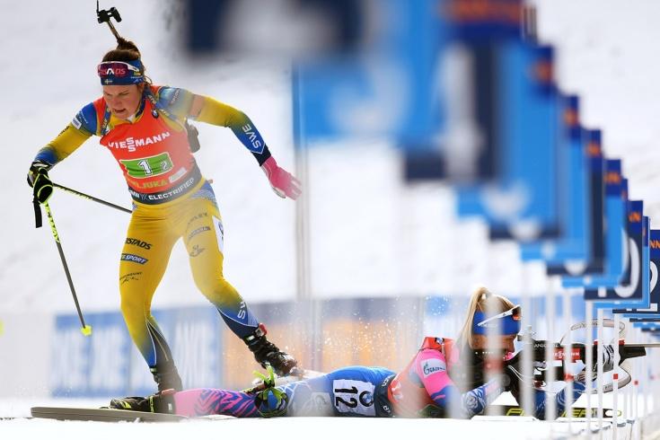 Сборная России по биатлону осталась без медалей в эстафетах в Поклюке
