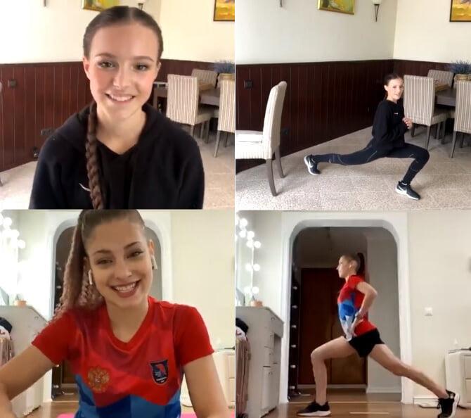 Суперпозитивная тренировка Щербаковой и Косторной: Алена показала кролика, Аня рассказала, что хочет сыграть Гермиону