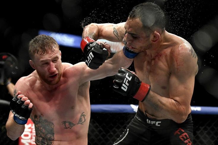 UFC 249, Джастин Гэтжи одолел Тони Фергюсона и стал временным чемпионом, видео боя